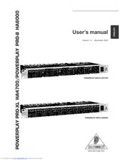 behringer powerplay pro ha4700 manuals rh manualslib com Crossover Behringer Manuals Behringer Mixer Manuals