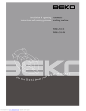 beko wma 510 s installation operating instructions manual pdf rh manualslib com  beko wma510w manual pdf