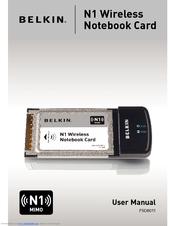 belkin n1 wireless notebook card f5d8011 user manual pdf download rh manualslib com Asus Notebook Manual HP Pavilion Dv7 Notebook Manual