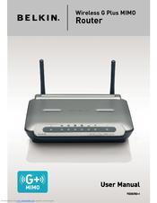 belkin wireless g plus mimo router f5d9230 4 user manual pdf download rh manualslib com belkin wireless g travel router f5d7233 user manual belkin wireless g router driver