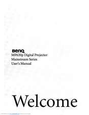 Benq mp620p user manual | 55 pages.