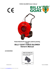 Billy Goat EX17D50012 Owner's Manual 16 Pages