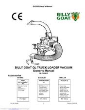 Billy Goat QL2300 Manuals