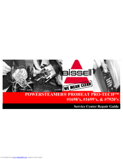 bissell proheat pro tech 1699 repair manual pdf download rh manualslib com Bissell PowerForce Bagless YouTube Bissell PowerForce Bagged