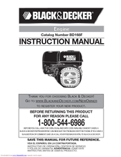 Black & Decker BD168F Instruction Manual