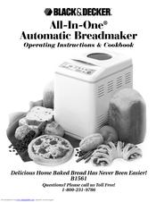 Black & Decker B1561 Operating Instructions Manual