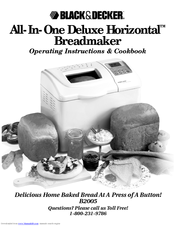 Black & Decker All-In-One Deluxe Horizontal B2005 Operating Instructions & Cook Book