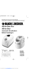 Black & Decker All-In-One B2250 Use And Care Book Manual