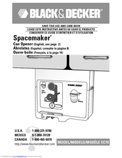 Black & Decker Spacemaker EC70 Use And Care Book Manual