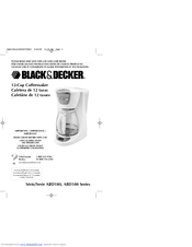 Black Decker ABD100 Series Use And Care Book Manual