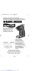 Black & Decker Home Cafe AM7 Use And Care Book Manual