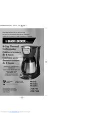 Black And Decker Coffee Maker Cleaning Instructions : Black & Decker DE790 Manuals