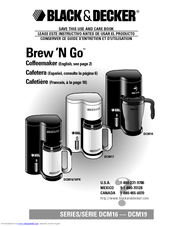 Black & Decker Brew'N Go DCM16 Use And Care Book Manual