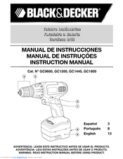 Black & Decker GC1440 Instruction Manual