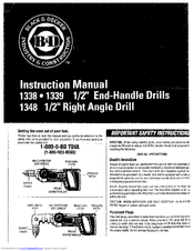 Black & Decker 1338 Instruction Manual