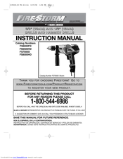 Black & Decker Fire Storm FS7000D Instruction Manual