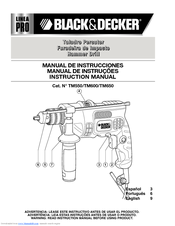 Black & Decker Linea Pro TM600 Instruction Manual