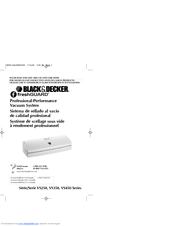 Black & Decker freshGuard VS350 Series Use And Care Book Manual