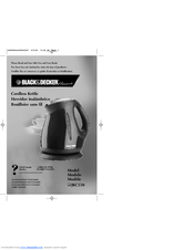 Black & Decker SmartBoil JKC550 Series Use And Care Book Manual
