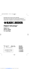 Black & Decker DIGITAL ADVANTAGE D2000 Series Use And Care Book Manual