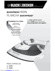 Black Amp Decker Quickpress F976 Manuals