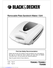 Black & Decker TS4080 Instruction Manual