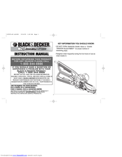 Black & Decker Alligator LP1000 Instruction Manual