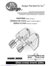 Black & Decker EHM80 Series Use And Care Book Manual