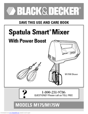 Black & Decker Spatula Smart M175W Use And Care Book Manual