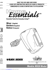 Black & Decker Home Essentials MX40 Use And Care Book Manual
