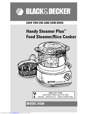 Black & Decker Handy Steamer Plus HS90 Use And Care Book Manual