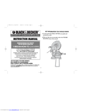 Black & Decker 395136-00 Instruction Manual