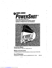 Black & Decker PowerShot 348061-00 Instruction Manual