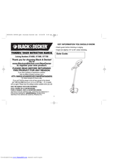 Black & Decker ST7600 Instruction Manual