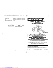 Black & Decker Power Series SL302B Instruction Manual