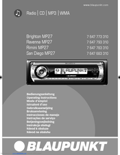 blaupunkt san diego mp27 manuals rh manualslib com blaupunkt car stereo installation manual blaupunkt car stereo user manual