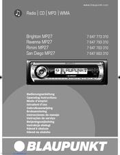 blaupunkt san diego mp27 manuals rh manualslib com peugeot 307 blaupunkt stereo manual vz commodore blaupunkt stereo manual