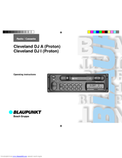 Blaupunkt CLEVELAND DJ A Operating Instructions Manual