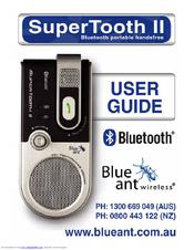 blueant supertooth ii user manual pdf download rh manualslib com BlueAnt Headset BlueAnt Wireless Q2