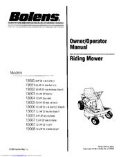 bolens 13068 manuals rh manualslib com bolens instruction manual bolens bl100 user manual