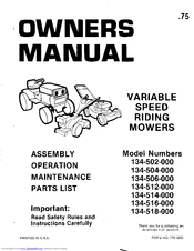 mtd 134 502 000 owner s manual pdf download rh manualslib com mtd riding lawn mower repair manual MTD Online Manuals