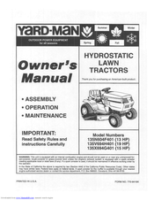 Yard-Man 135X694G401 Owner's Manual