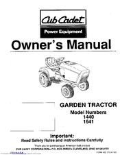 Cub cadet 1440 Manuals | ManualsLibManualsLib