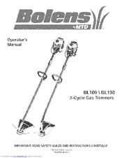 bolens bl150 operator s manual pdf download rh manualslib com bolens mtd bl100 manual bolens bl100 repair manual