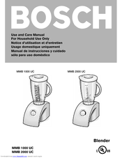 Bosch MMB 2000 UC Use And Care Manual