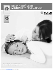 Bosch Nexxt 500 Plus Series WTMC533 Operation & Care Instructions Manual
