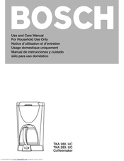 Bosch 283UC Use And Care Manual