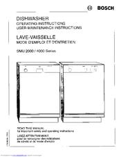 Bosch Smu 4000 Series Manuals Manualslib