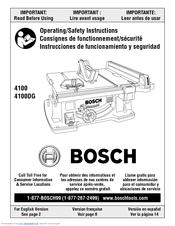 Bosch 4100 10 inch worksite table saw manuals.