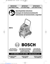 bosch 3931a 13 gallon wet dry vacuum cleaner manuals rh manualslib com bosch vacuum cleaner manual bosch athlet vacuum manual